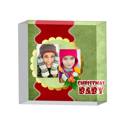 Xmas By Merry Christmas   4 x 4  Acrylic Photo Block   Te2bp531oi47   Www Artscow Com Front