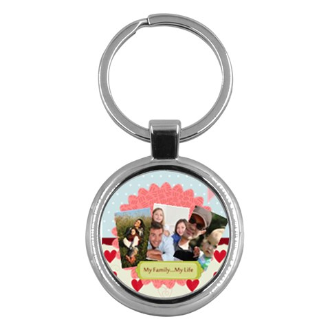 Family By Family   Key Chain (round)   35l485lcxv9h   Www Artscow Com Front