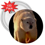 Polar Bear 3  Button (100 pack)