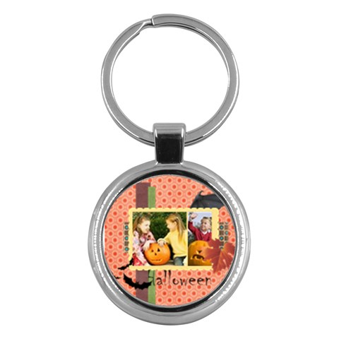 Halloween By Helloween   Key Chain (round)   0pkp8vudxjwv   Www Artscow Com Front