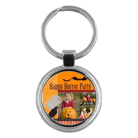 Halloween By Helloween   Key Chain (round)   40x8yyhl14r1   Www Artscow Com Front