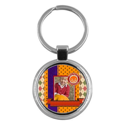 Halloween By Helloween   Key Chain (round)   1q5bu41dtvlf   Www Artscow Com Front