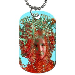 Flower Horizon Dog Tag (one Sided) by icarusismartdesigns