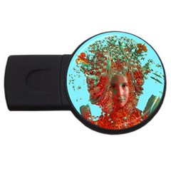 Flower Horizon 2gb Usb Flash Drive (round) by icarusismartdesigns