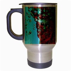 Flower Horizon Travel Mug (silver Gray) by icarusismartdesigns