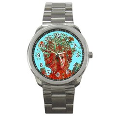 Flower Horizon Sport Metal Watch by icarusismartdesigns