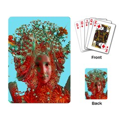 Flower Horizon Playing Cards Single Design by icarusismartdesigns