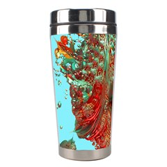 Flower Horizon Stainless Steel Travel Tumbler by icarusismartdesigns