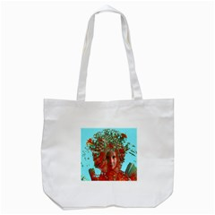 Flower Horizon Tote Bag (white) by icarusismartdesigns