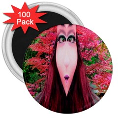 Tree Spirit 3  Button Magnet (100 Pack) by icarusismartdesigns