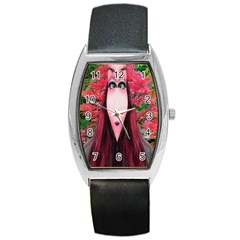 Tree Spirit Tonneau Leather Watch by icarusismartdesigns