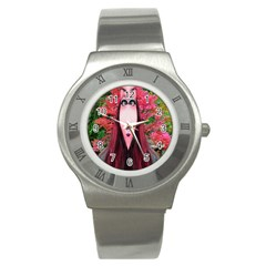 Tree Spirit Stainless Steel Watch (slim) by icarusismartdesigns