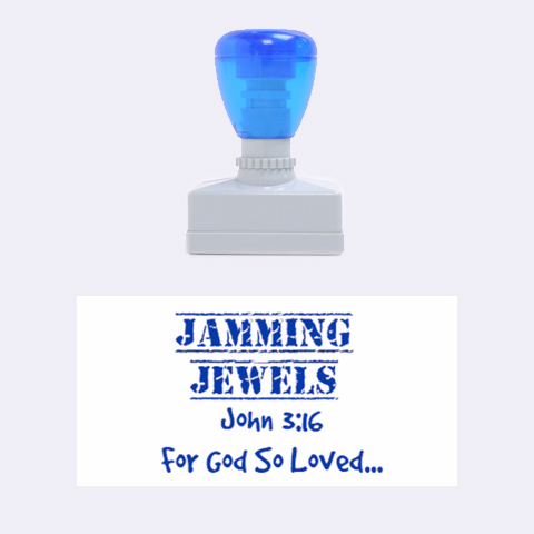 Jammin Jewels  By Sada   Rubber Stamp (medium)   F6jhefq82qr0   Www Artscow Com 1.34 x0.71  Stamp