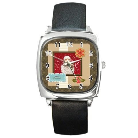 Xmas, Christmas Gift  By Xmas   Square Metal Watch   Sqw96w9iv6xb   Www Artscow Com Front