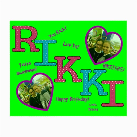 Rikki Bday By Kornie   Small Glasses Cloth   5y0wp9q3o059   Www Artscow Com Front