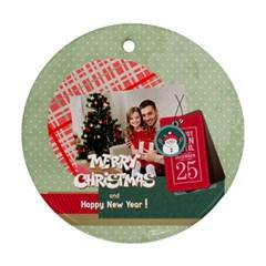 Xmas By Xmas4   Round Ornament (two Sides)   Etnxhbeb89so   Www Artscow Com Back