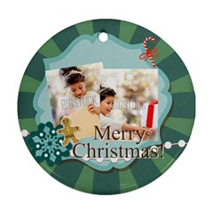 Xmas By Xmas4   Round Ornament (two Sides)   58fzbbfr3d6j   Www Artscow Com Front