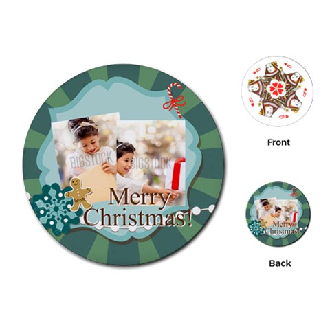 Xmas By Xmas4   Playing Cards (round)   Kv586abmbe2h   Www Artscow Com Front
