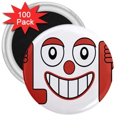 Laughing Out Loud Illustration002 3  Button Magnet (100 Pack) by dflcprints