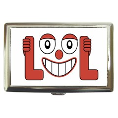 Laughing Out Loud Illustration002 Cigarette Money Case by dflcprints