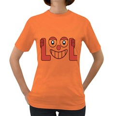 Laughing Out Loud Illustration002 Women s T Shirt (colored) by dflcprints