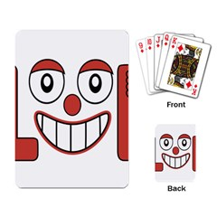 Laughing Out Loud Illustration002 Playing Cards Single Design by dflcprints