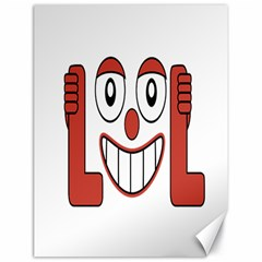 Laughing Out Loud Illustration002 Canvas 18  X 24  (unframed) by dflcprints