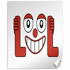Laughing Out Loud Illustration002 Canvas 11  X 14  (unframed) by dflcprints