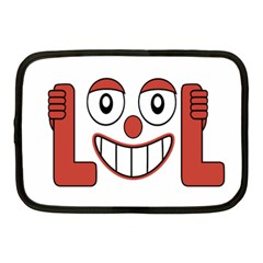 Laughing Out Loud Illustration002 Netbook Sleeve (medium) by dflcprints