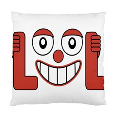 Laughing Out Loud Illustration002 Cushion Case (single Sided)  by dflcprints