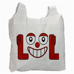 Laughing Out Loud Illustration002 White Reusable Bag (two Sides) by dflcprints