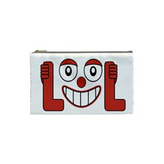 Laughing Out Loud Illustration002 Cosmetic Bag (small) by dflcprints