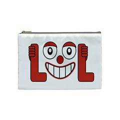 Laughing Out Loud Illustration002 Cosmetic Bag (medium) by dflcprints