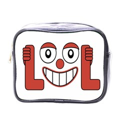 Laughing Out Loud Illustration002 Mini Travel Toiletry Bag (one Side) by dflcprints