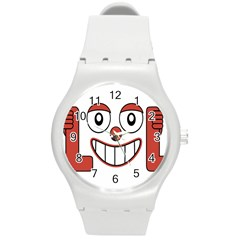 Laughing Out Loud Illustration002 Plastic Sport Watch (medium) by dflcprints