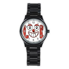 Laughing Out Loud Illustration002 Sport Metal Watch (black) by dflcprints