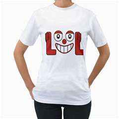 Laughing Out Loud Illustration002 Women s T Shirt (white)  by dflcprints