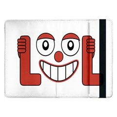 Laughing Out Loud Illustration002 Samsung Galaxy Tab Pro 12 2  Flip Case by dflcprints