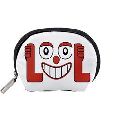 Laughing Out Loud Illustration002 Accessory Pouch (small) by dflcprints