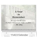 family calendar 2015 - Wall Calendar 11  x 8.5  (12-Months)