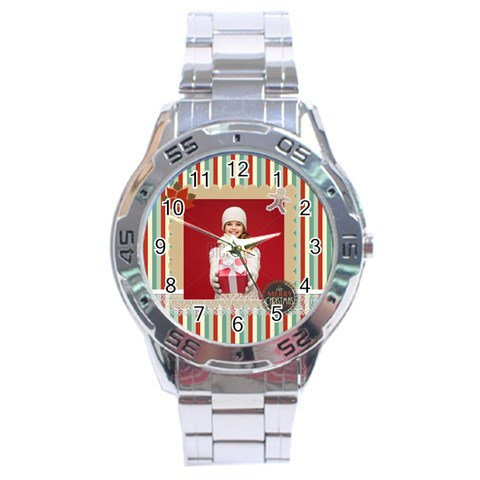 Xmas By Xmas   Stainless Steel Analogue Watch   V1ocby8rg3qi   Www Artscow Com Front