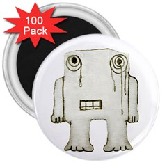 Sad Monster Baby 3  Button Magnet (100 Pack) by dflcprints