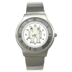 Sad Monster Baby Stainless Steel Watch (slim) by dflcprints