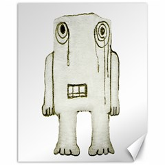 Sad Monster Baby Canvas 11  x 14  (Unframed) by dflcprints
