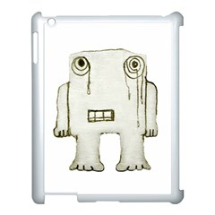Sad Monster Baby Apple Ipad 3/4 Case (white) by dflcprints