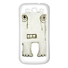 Sad Monster Baby Samsung Galaxy S3 Back Case (white) by dflcprints