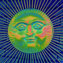 Sun Face Canvas 12  X 12  (unframed) by sirhowardlee