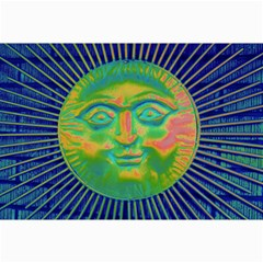 Sun Face Canvas 12  X 18  (unframed) by sirhowardlee
