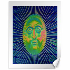 Sun Face Canvas 18  X 24  (unframed) by sirhowardlee