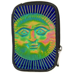 Sun Face Compact Camera Leather Case by sirhowardlee